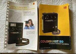 Colorburst 50 Kodak Instant Camera Manual 1979 + Customer Service Pamphlet
