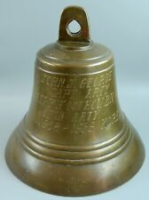 Vtg Korean War Solid Brass/Bronze Authentic Ship/Sailor's Bell Awarded to Capt.
