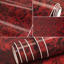 DIY Wood Grain Textured Vinyl Self-adhesive Car Wrap Decal Sticker 50cm x 50cm