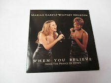Whitney Houston et Mariah Carey - when you believe - cd single 2 titres 1998