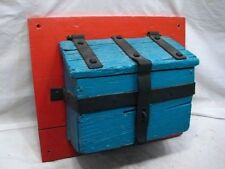 Antique Conestoga Wagon Wooden Side Board Tool Box Toolbox Wrought Iron Mailbox