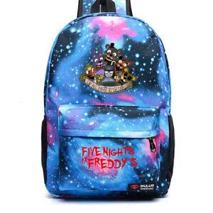 Five Nights At Freddy's FNAF Backpack Chica Bonnie Rucksack Laptop School Bag