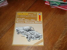 HAYNES MANUAL FOR MAZDA B1600 & B1800 PICK UPS. 1972 TO 1978.