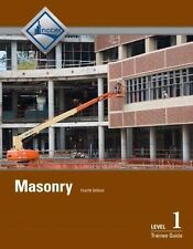 Masonry Level  1 (hardcover) AND 2 (paperback)Trainee Guide by NCCER 2014
