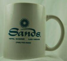 Nice Vintage Las Vegas Sands Hotel & Casino Ceramic Coffee Mug Cup White Glazed