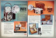 Spartus Camera 4-Page CATALOG AD PAGE - 1957