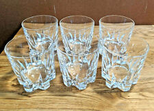 1950s vintage crystal whisky tumblers very fine shape
