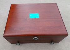 New listing Reed & Barton Cherry Stain Wooden Silverware Flatware Chest Box Case w/Drawer