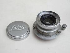 """Leica SM LTM screw mount 35mm f:3.5 E36 Summaron lens with caps, NICE """"LQQK"""""""