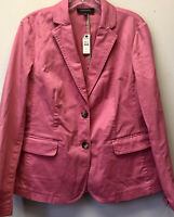 New Talbots Women's Size 12 Coral 2 Button Stretch Cotton Career Casual Blazer