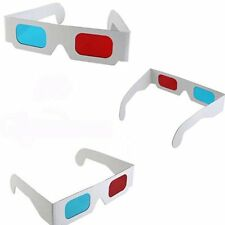 5x 3D Red Blue Cyan Dimens paper Card Anaglyph White Glasses movie DVD Game Hot