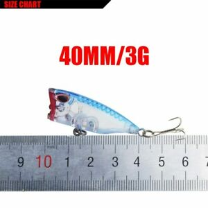 Minnow Fishing Lure Mini Popper Hard Bait Topwater Floating Lure Fishing Tackles