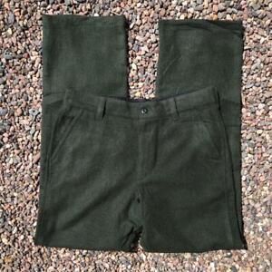 Mens Green LL Bean WOOL Pants Hunting Casual Pants Slacks 34 x 34