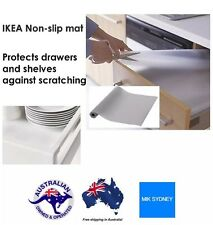 2x IKEA NONSlip Mat Drawer Liner Kitchen Draw Cupboard Shelf Protect Transparent