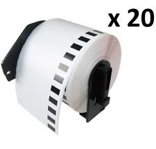 20 X DK11202 hermano compatible térmica dirección 62x100mm/etiquetas de envío