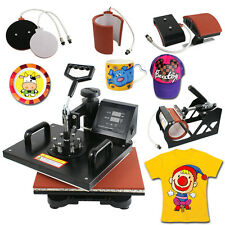n1 Heat Press Machine Digital Transfer Sublimation T-Shirt Mug Hat Plate Cap