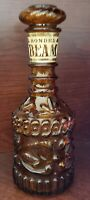 Jim Beam Amber Glass Bottle (empty) 1973 with Label-Vintage Collectible Decanter