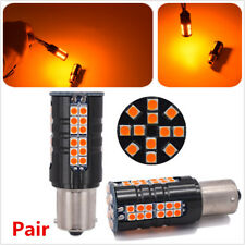 2x 21W No Hyper Flash CAN-bus Amber 1156 LED Front Turn Signal Lights Bulbs