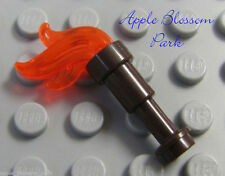 NEW Lego Minifig Fire TORCH - Weapon Tool w/Trans Orange Flame - Pirate/Kingdoms