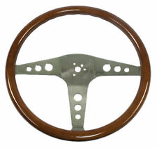 "VW Bus Type 2 EMPI Classic Wood Steering Wheel ,457mm   ,1-1/2"" Dish 79-4055-6"