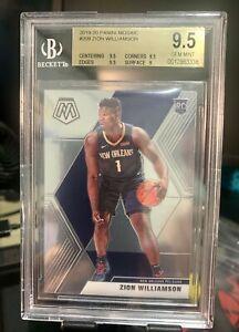 2019-20 Panini Mosaic #209 Zion Williamson Pelicans RC BGS 9.5 GEM MINT