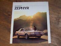 1978 MERCURY ZEPHYR SALES BROCHURE ALL MODELS