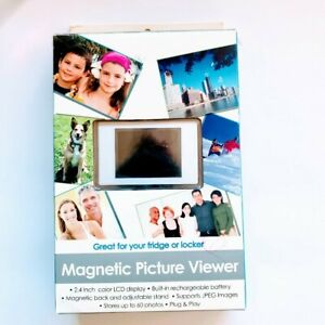 Magnetic Picture Viewer, holds 60 photos,2.4 color LCD Display. NEW/OPEN BOX