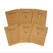 Zodiac Sign Pendant Charms 12 Constellation Necklace Choker Jewelry Making Craft