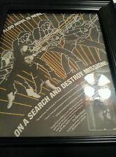 Aldo Nova Fantasy Rare Promo Poster Ad Framed!