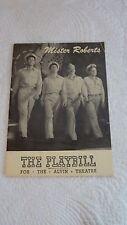 PLAYBILL MISTER ROBERTS Alvin Theatre Vintage