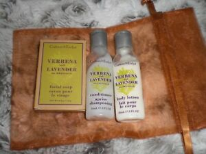 Crabtree Evelyn - Travel Size Toiletries 3  items in gift bag lavender/ verbena
