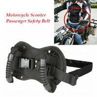 Motorcycle Passenger Safety Belt Rear Seat Grab Grip Handle Belly Strap Oxford