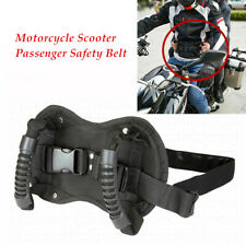 Motorcycle Passenger Safety Belt Rear Seat Grab Grip Handle Belly Strap Oxford (Fits: Bourget's Bike Works)