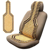Car wooden seat cover cushion beaded MASSAGE Ventilation taxi motorhome van