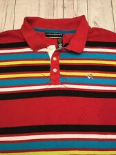 Rocawear Polo Shirt RW Hip Hop Urban Baggy Red blue black Stripes  3xl XXXL 3x