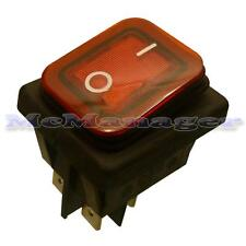 DPST Water Proof Rocker Switch With Light IP65 (Illuminated)
