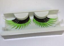 Oversize Nero Verde & Bianco Flick Ciglia Finte 80s 90s Costume