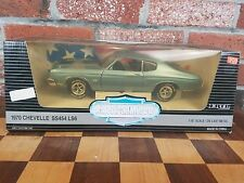 ERTL American Muscle 1/18 1970 Chevy Chevelle SS454 LS6 Blue Collectors Edition