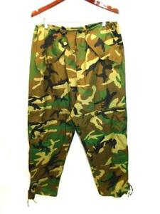 US Army L Long Trousers Extended Cold Weather Woodland Camo Camouflage Pants