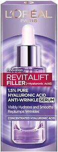 L'Oreal Serum Revitalift Filler Hyaluronic Acid Anti Wrinkle Hydrates 30 ml