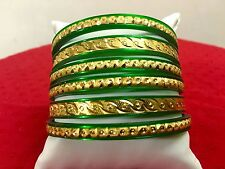Indian Ethnic 6 PC Gold Plated Jewelry Bollywood Fashion Bangles Bracelets Set
