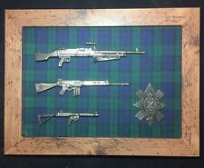 Commemorative Black Watch framed 1/6 scale weapons