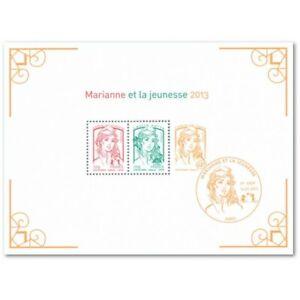 LOT DE 24 BLOCS N°133 MARIANNE ET LA JEUNESSE 2013 LUXE