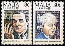 Malta 1985 Mi 726-27 ** Union Europa Cept Music Azopardi Composer Komponist