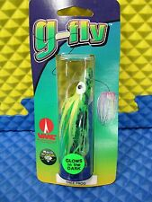 """g-fly Trolling Tips Squid Flies w/30"""" Leader CHOOSE YOUR COLOR!!"""