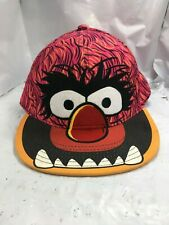 The Muppets Animal Fitted  Size Medium Hat Red Black Ball Cap Free Shipping
