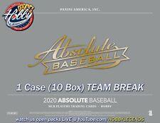 CHICAGO CUBS 2020 ABSOLUTE Baseball 1 Case (10 Box) Team Break #1