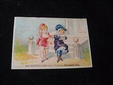 1800's Mencke Ladies' Dress Trimmings Phila PA Victorian Trade Card