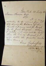 1862 MANUSCRIPT LETTER RENTAL UNIT NEW YORK CITY CIVIL WAR ERA HOYT THOMSON