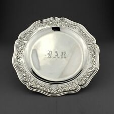 George II Antique Solid Sterling Silver Plate / Salver / Tray. London, 1758.